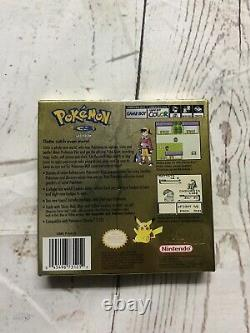 100% AUTHENTIC Pokemon Gold Nintendo Game Boy Color BOX ONLY No Game Manual