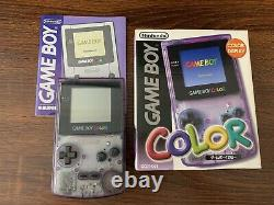 100% OEM Nintendo GameBoy Color System Atomic Clear Purple Complete in Box Good