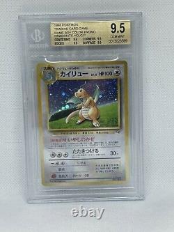 1998 Pokemon Japanese Promo Game Boy Color Holo Dragonite #NNO BGS 9.5 GEM