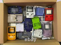 73 x Genuine Nintendo Game Boy Shells All Models and Colours JOB LOT Bundle