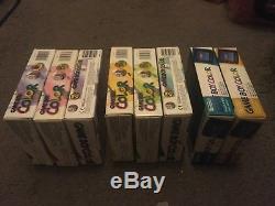 8 Boxed Nintendo Gameboy Color Consoles. Complete & Collector Condition