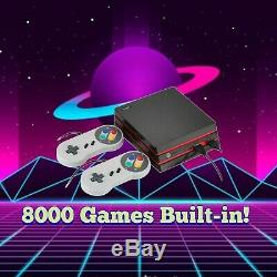8000+ Classic Retro Games! Mini HDMI Console Snes Nes GBA Arcade GameBoy Color