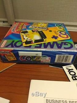 BOX ONLY Pokemon Yellow Gameboy Color Special Pikachu Edition BOX ONLY