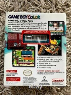 BRAND NEW SEALED Nintendo Game Boy Gameboy Color Console 1999 (TEAL) EXCELLENT