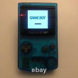 Backlit Clear Blue Nintendo Game Boy Color GBC Backlight Mod with New LCD Screen