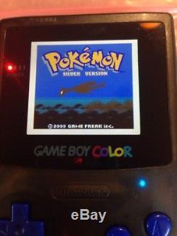 Backlit Nintendo Gameboy Color Clear Black Backlight Louder Speaker