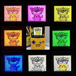 Boxed Nintendo Gameboy Color Light Pokemon Edition IPS Backlight & Glass Screen