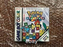 Brand New Factory Sealed Pokemon Puzzle Challenge Nintendo Gameboy Color 2000