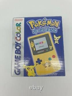Brand New Game Boy Gameboy Color Gbc Game Console Pokemon Pikachu Factory Sealed