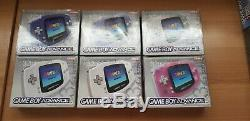 Bundle/joblot/collection Of 34 Game Boy Consoles Advance/color/pocket/sp/classic
