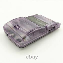 Clear Purple Game Boy Color GBC Console With Backlight Back Light LCD