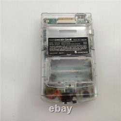 Clear White Refurbished Game Boy Color GBC Console With Backlight Back Light LCD