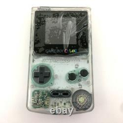 Clear white Refurbished Game Boy Color GBC Console with High Backlight LCD Mod