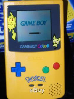 Consola Game Boy Gameboy GBC Color Pokemon Pikachu Special Edition