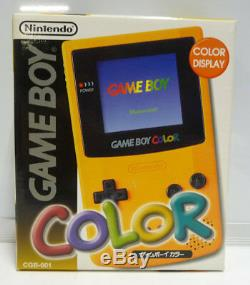Console Nintendo Game Boy Color Yellow Japan Mint Region Free Complete 1998