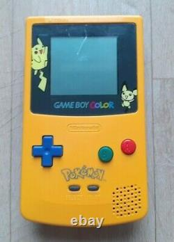 Console Nintendo Gameboy Game Boy Color Special Edition Pikachu Jaune Boîte