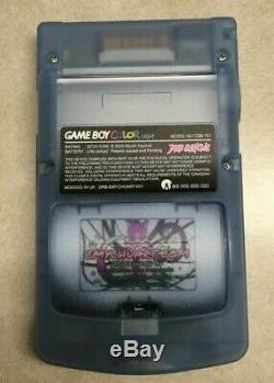 Custom Backlit Game Boy Color Pokemon MEWTWO Theme Glows in the dark