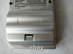 Defective Nintendo Game boy Light Silver color console MGB-101, Boxed set-c0730