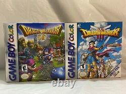 Dragon Warrior I & II / Dragon Warrior III (Game Boy Color) Complete Rare Mint
