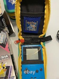 Game Boy Color Doppel Paket + Pokémon Sammlung & Game Link