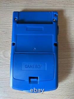 Game Boy Color Ips Retroilluminato Console + Pokémon Oro + Argento Re-shell Pika