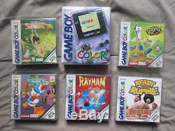 Game Boy Color Lila + 5 Spiele Alles OVP & komplett Mega Zustand Sammler
