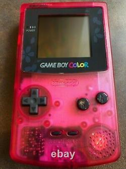 Game Boy Color Nintendo Sakura Taisen GB Clear Cherry Pink RARE MINT