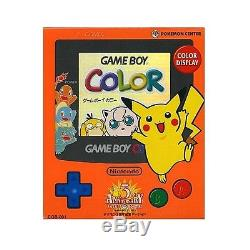 Game Boy Color Pokemon 3th Anniversary Console System Nintendo Japan F/S USED