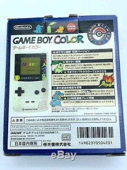 Game Boy Color Pokemon Center Gold Silber Limited Console Box Tested JP F/S