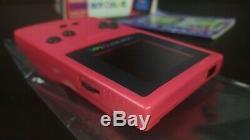 Game Boy Color Red GBC CIB Console JAP JPN Japan Import