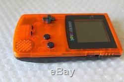 Game Boy Color System Clear Orange & Black Daiei Hawks Nintendo Japan Super Rare