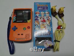 Game Boy System Color Pokemon 3 Shunen Kinen Center Orange Nintendo Japan LOOSE