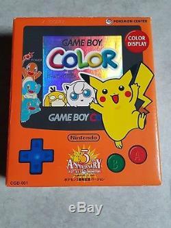 Game boy color pokemon 3eme anniversaire centre pokemon