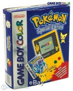 GameBoy Color Konsole #Ltd. Pokemon Edt. Yellow / Gelb mit OVP OVP beschädigt