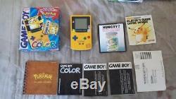 GameBoy Color Pokemon Pikachu Edition Handheld System COMPLETE CIB