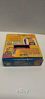 GameBoy Color Pokemon Pikachu Edition Handheld System COMPLETE Clean