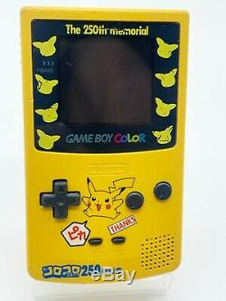 GameBoy Colour CoroCoro 250th Anniversary Pokemon Japanese Console ONLY 30 MADE