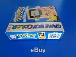 GameBoy Colour Limited Edition Pokemon Console Pikachu Yellow PINBALL INCLUDED