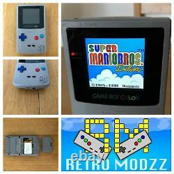 GameBoy Colour Q5 XL or IPS Backlight LCD 2K Rechargeable Battery USB-C Speaker+
