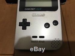 GameBoy Light console Silver Color with BOX and Manual 28