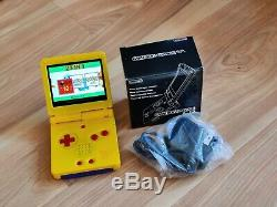 Gameboy Advance SP Pokemon Pikachu Nintendo System yellow Color 101 IPS SCREEN