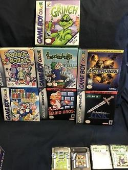 Gameboy Color Advance DS Lot Super Mario Bros Deluxe Complete Games + Boxes Only