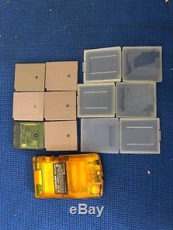 Gameboy Color Green & Gold Special Limited Edition AUSSIE EDITION with 6 games