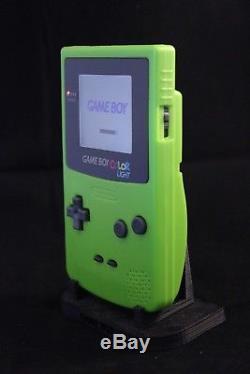 Gameboy Color Kiwi 101 Backlit Screen, Custom Lens, Sticker. NO GLUE