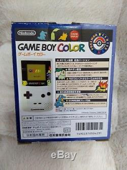 Gameboy Color Pokemon Center Limited Edition Gold Silver BOX great condition