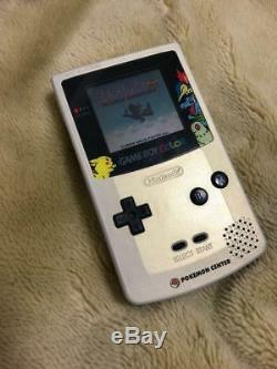 Gameboy Color Pokemon Center Limited Edition Gold Silver JAPAN good condition
