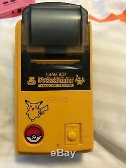 Gameboy Color Pokemon Center Orange/Blue Edition Bundle, Pocket Printer/pinball