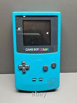 Gameboy Color Türkis Nintendo Pal Noe Ovp Holo Handheld Vgc Boxed
