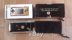 Gameboy Micro Famicom Color Boxed Console set +5 Mario games Nintendo Tested CIB