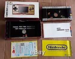 Gameboy Micro Famicom Color Boxed Console set +5 games Mario Nintendo Tested CIB